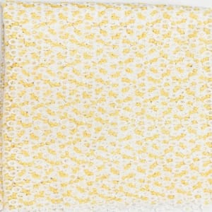 Swiss Cord Lace Small Ring Design - Cream & Yellow - 5 Yards