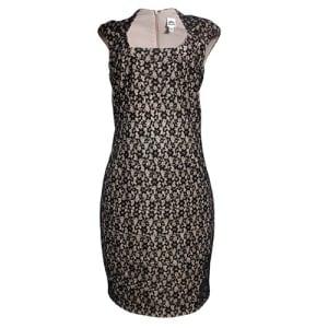 Women's Midi Sleeveless Dress - Black