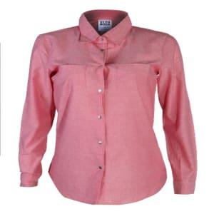 Fiona Denim Shirt | Red