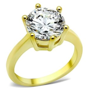 Stainless Steel AAA Grade CZ Ring TK1407