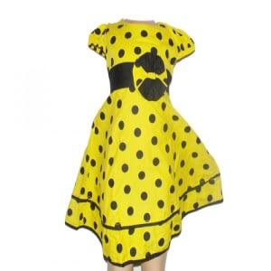 Girls' Yellow Polkadot Dress.