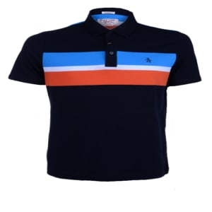 Plain Short Sleeve Polo With Stripped Chest