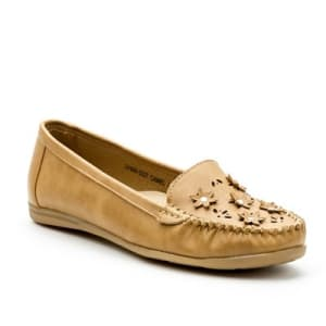 Laser Cut Flower Loafers | Yellow