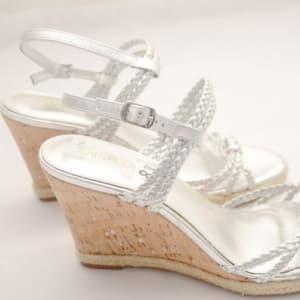 Womens' Sliver Wedge Sandals