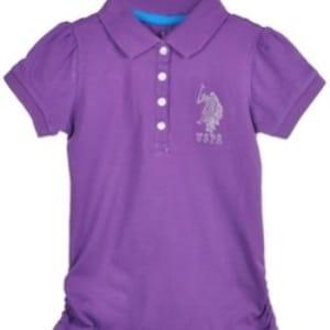 Girls Gem Rider Knit Polo | Purple