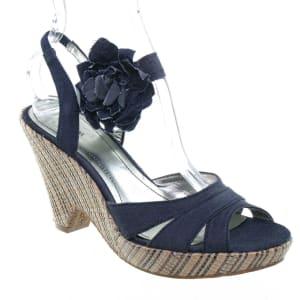 Darlin Open Toe Wedge Shoes   Blue