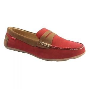 Venezia Men's Slip-on Moccasin Jones M - Red Suede