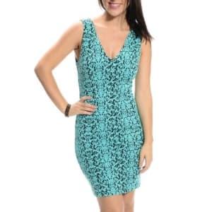 Women's Baroque Sleeveless Mini Dress - Blue