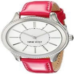 Women's NW/1703SVPK Silver-Tone Watch with - Pink Strap