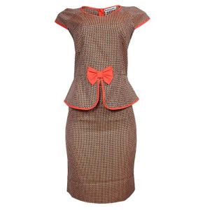 Women's Peplum Designer Dress - Multicolour