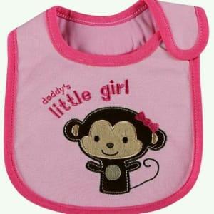Daddy's Little Girl Bib - Pink